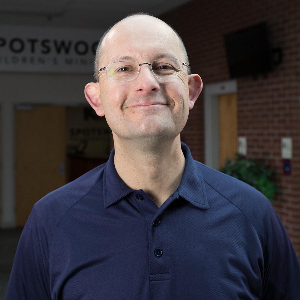 Pastor David at Spotswood Baptist Church