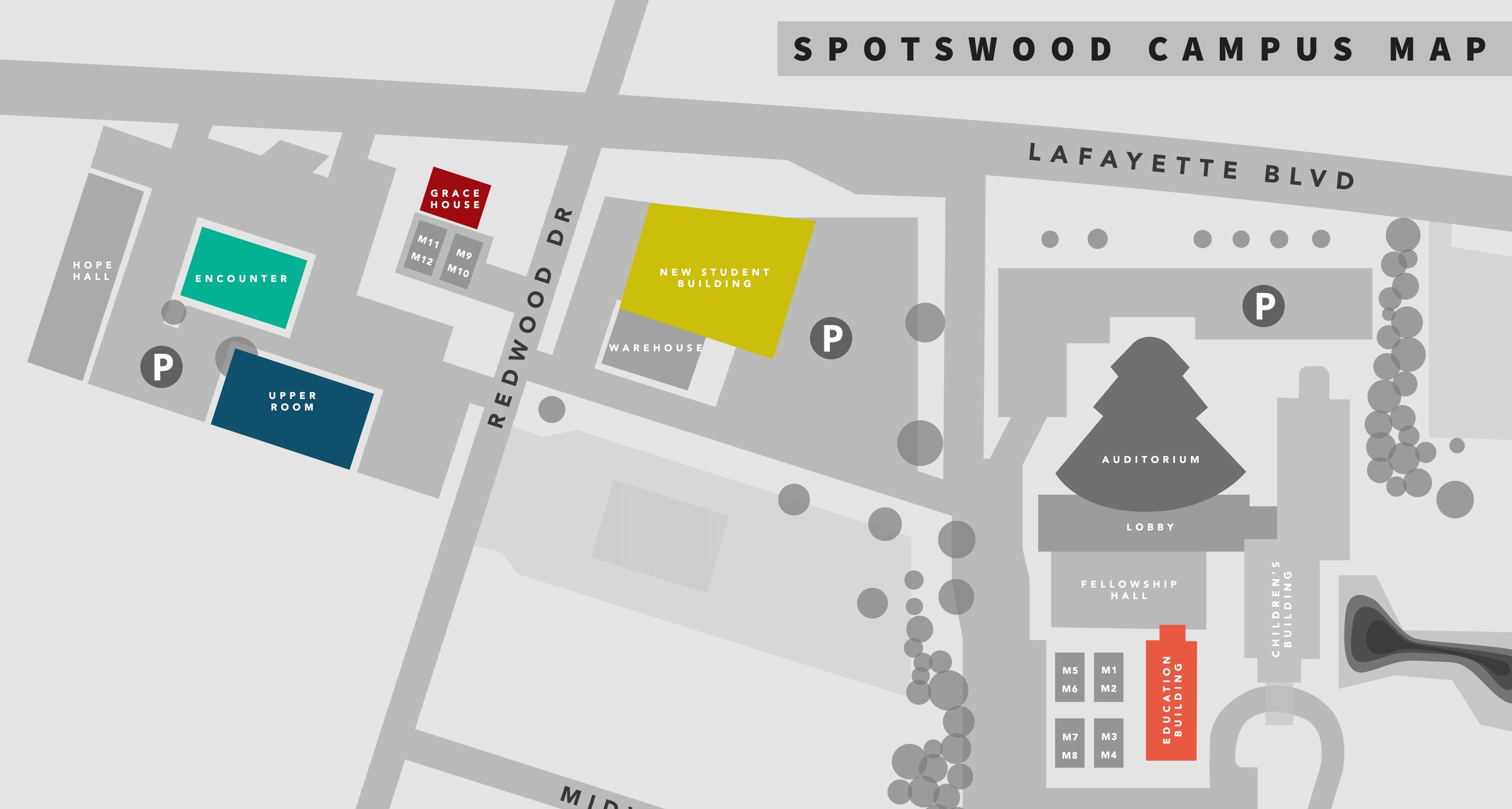 Spotswood Campus Map